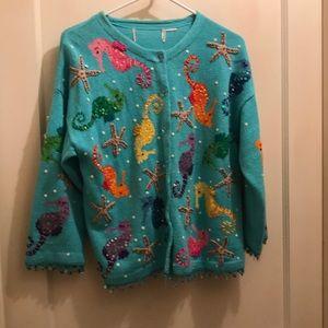 Sweaters - Seahorse cardigan